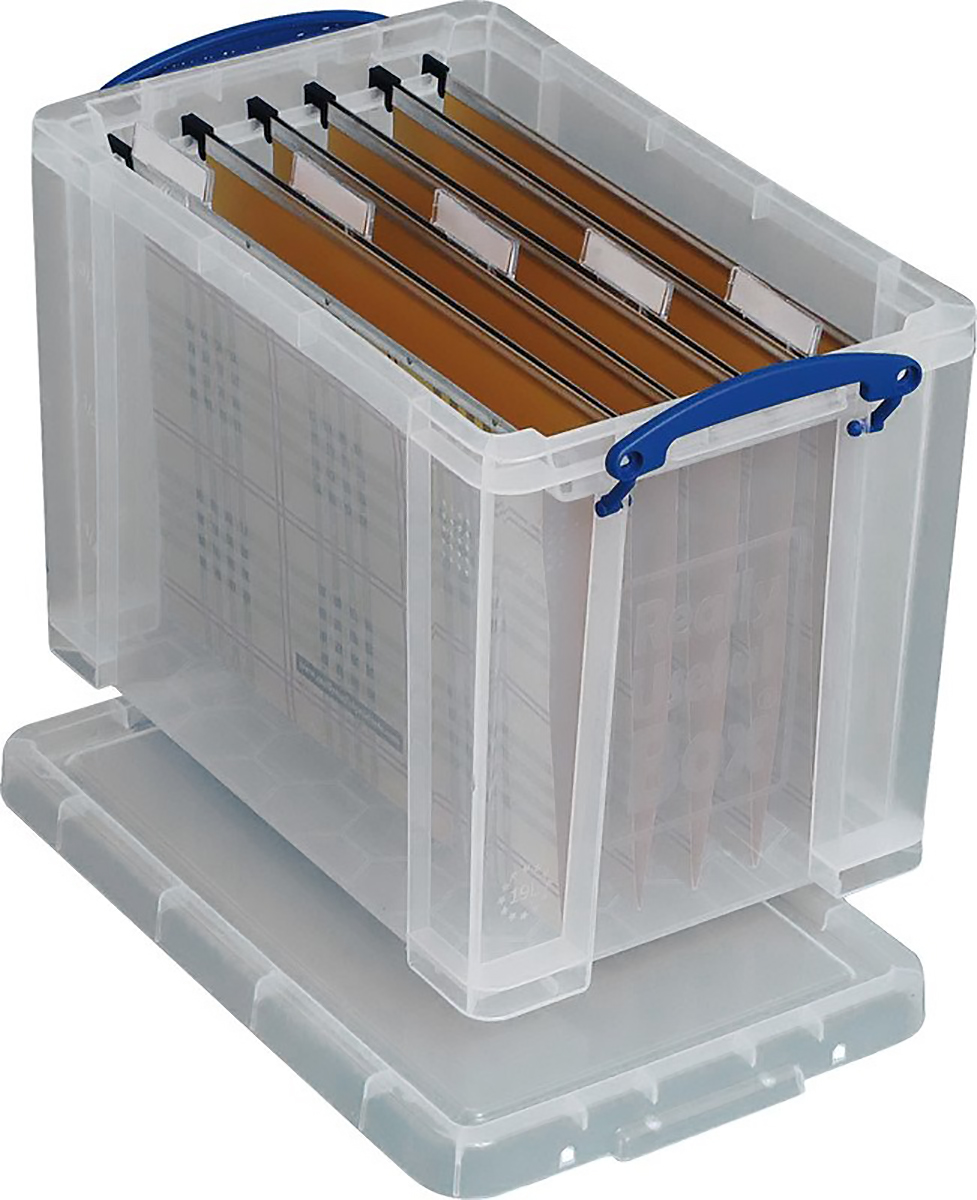 Really Useful Box Ordnungsbox 19l transparent Pic1