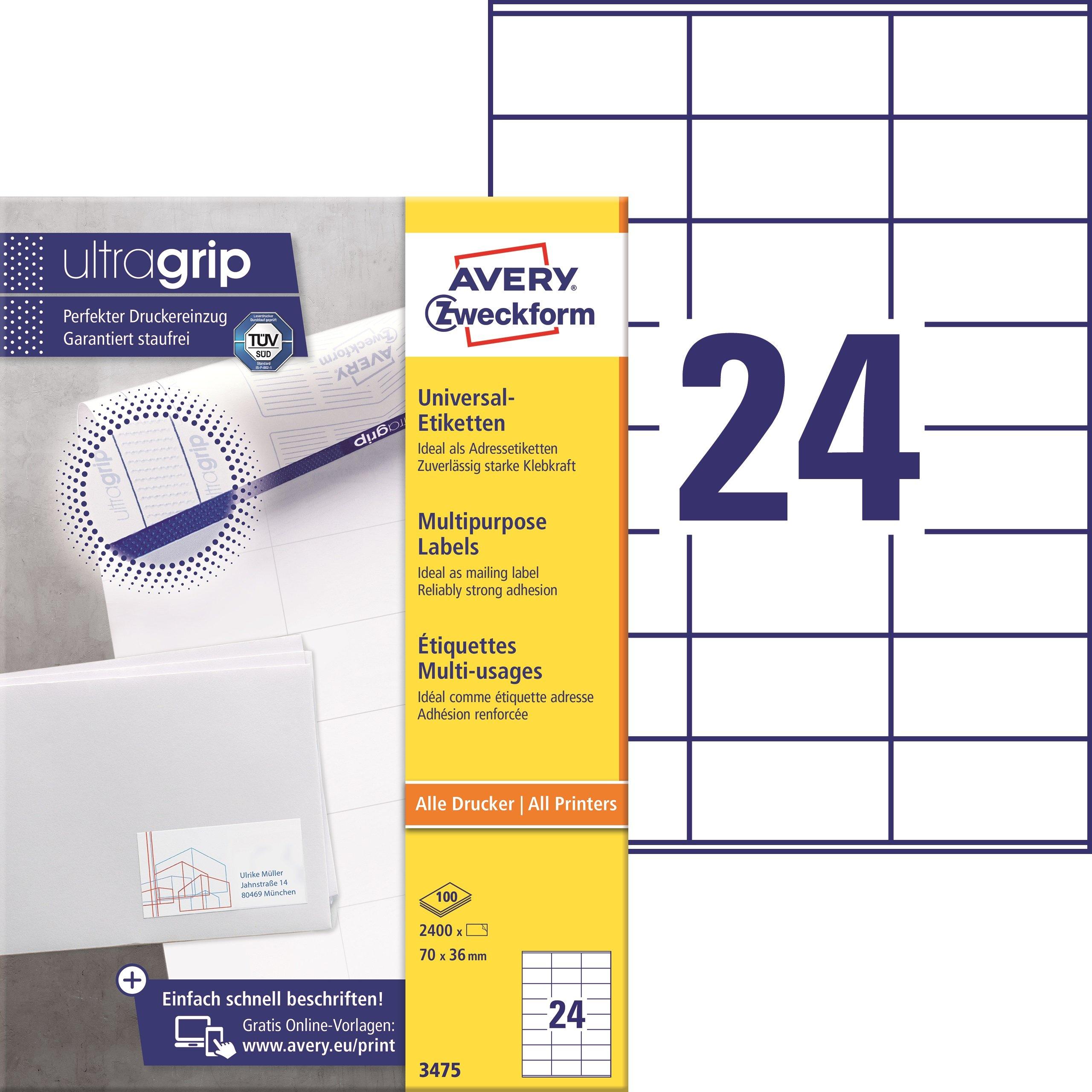 Amazon Com Avery Zweckform 3658 200 Universal 10