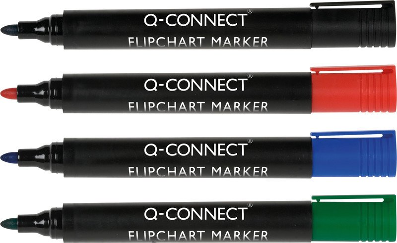 Connect Flipchart Marker 4er Etui Strichbreite 2 mm Pic1