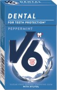V6 Peppermint Kaugummi Dental Care ohne Zucker