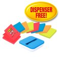 Post-it Z-Notes Dispenser blau/weiss 8 Blöcke Gratis