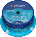 Verbatim CD-R 700/80/52x Spindel à 25