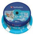 Verbatim CD-R 700/80/52x Spindel à 25 printable