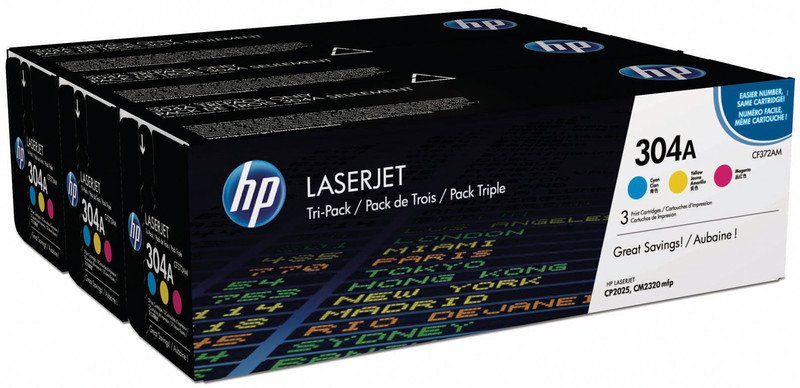 HP Toner 304A Multipack CMY Pic1