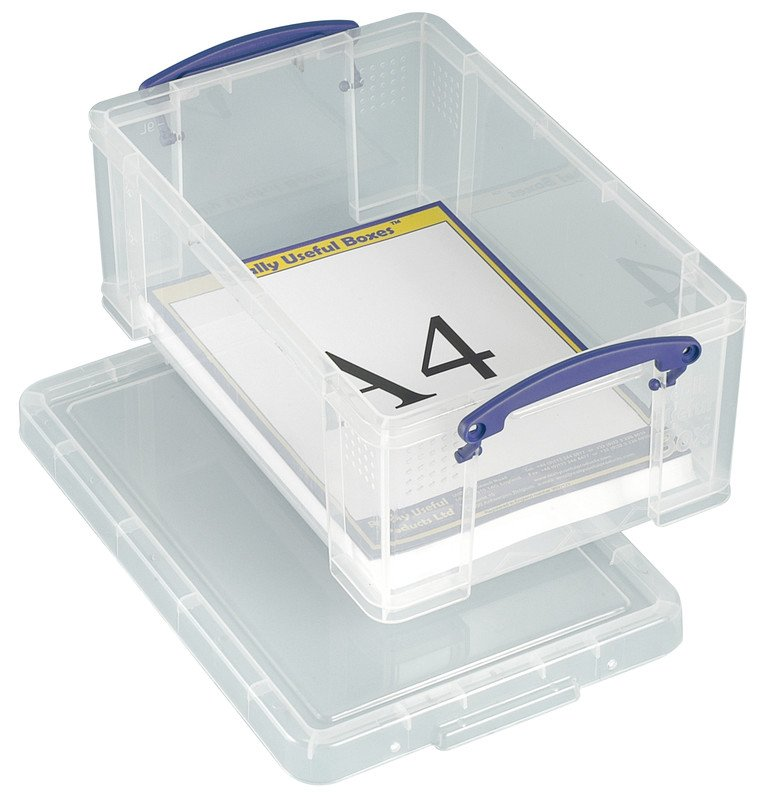 Really Useful Box Ordnungsbox 9l transparent Pic1