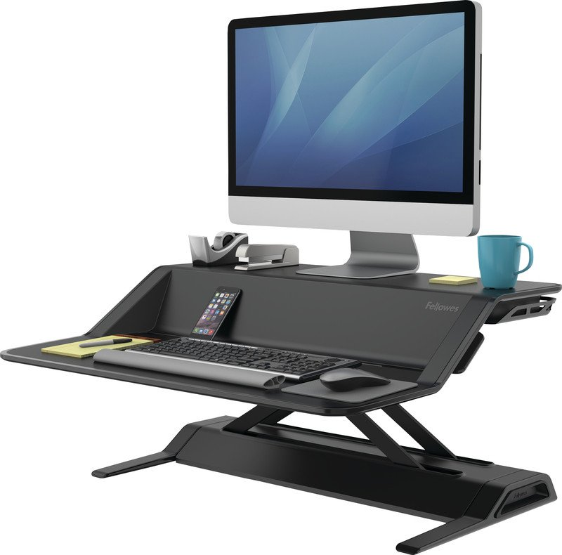 Fellowes Lotus Sitz-Steh Desktop Workstation Pic1