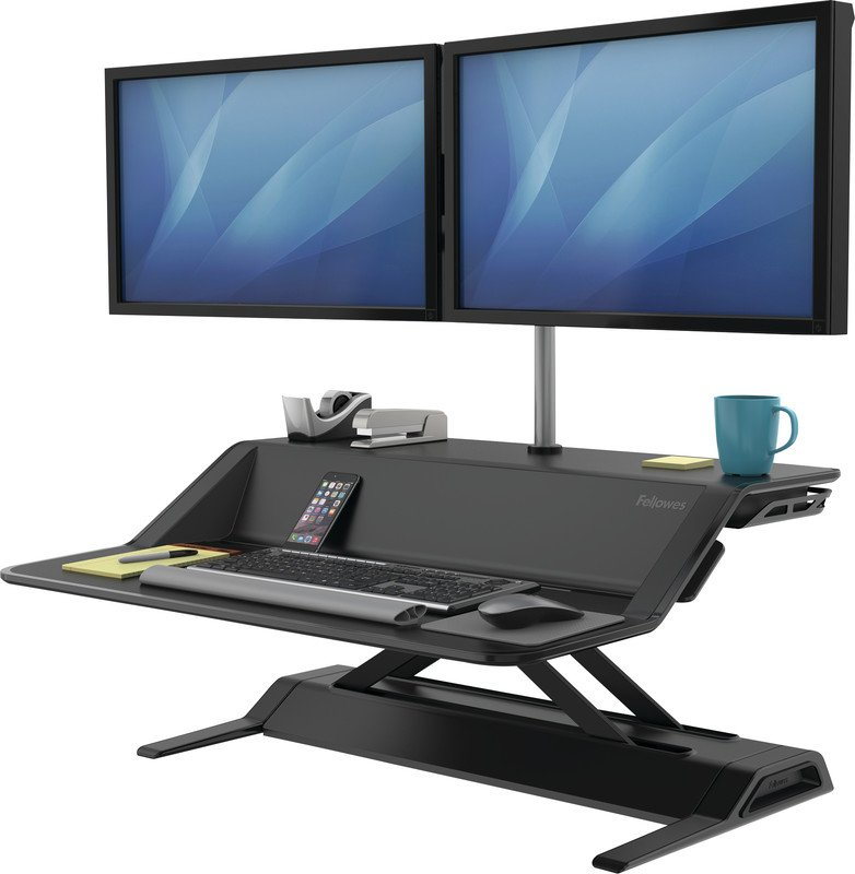 Fellowes Lotus Sitz-Steh Desktop Workstation Pic3